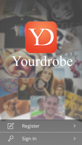 yourdrobe login screen